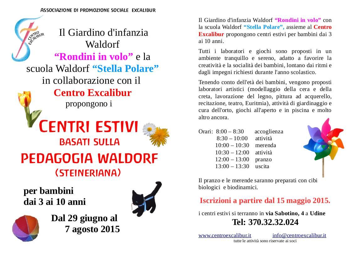 CENTRI ESTIVI WALDORF!