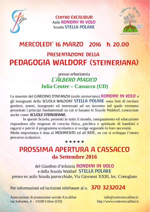 Presentazione della pedagogia Waldorf – Cassacco