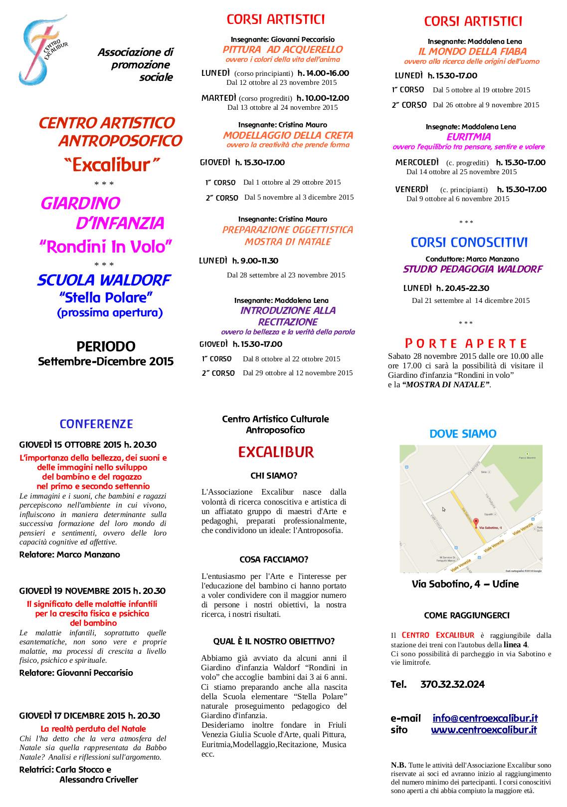 Attività ottobre-dicembre 2015