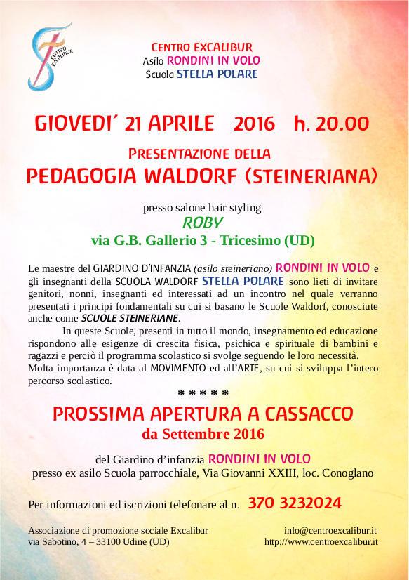 Presentazione della pedagogia Waldorf a Tricesimo